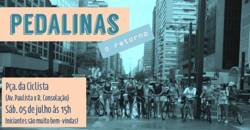flyer pedalinas julho 14